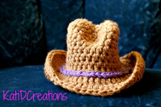 Wide Brim Cowboy Hat Crochet Pattern KatidCreations