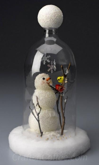 diy-snowman-cloche