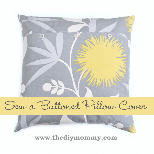 Buttoned-Pillow-Cover