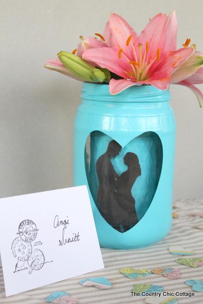 silhouette mason jar wedding centerpiece-006
