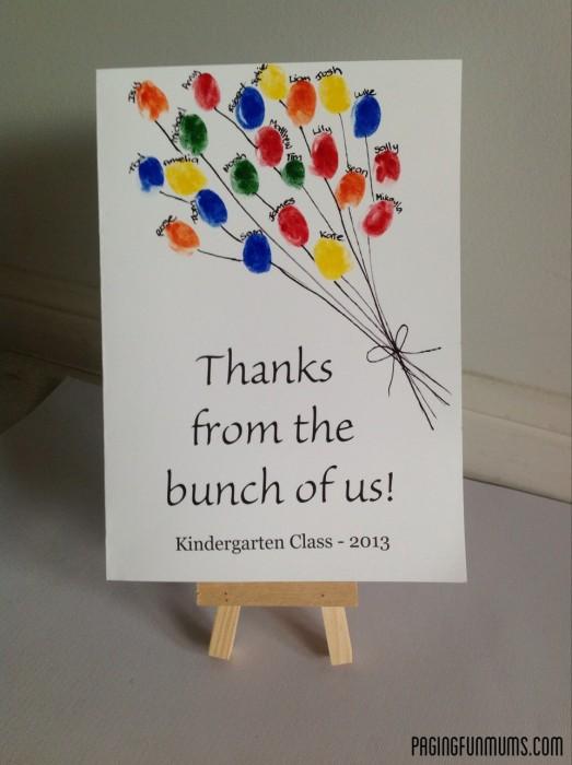 Teacher Appreciation Card from the Entire Class