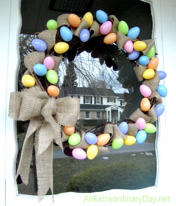 Pastel-Eggs-Burlap-Grapevine-Easter-Wreath-AnExtraordinaryDay.net_
