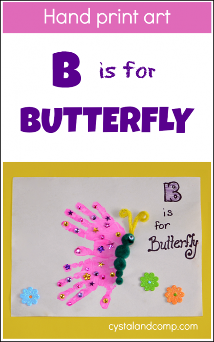 Hand-Print-Art-B-is-for-Butterfly