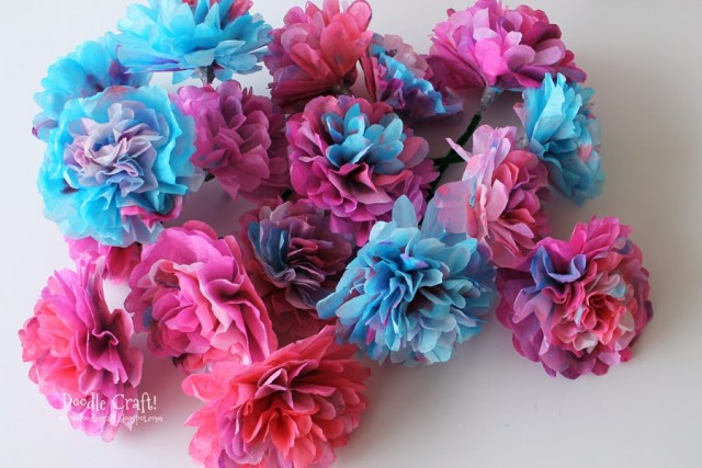 coffee filter flowers rosettes tutorial easy diy bouquet valentine's day mother's gift wreath coloring dying paper (1)