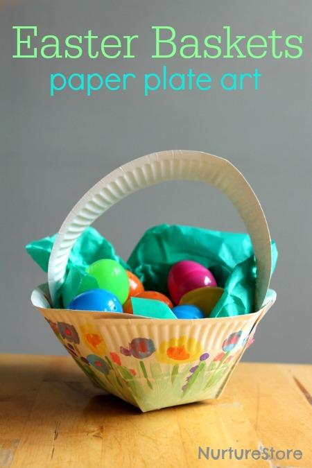Easter-Basket-paper-plate-craft