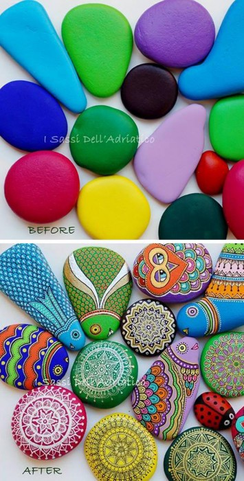 How to Paint Stones with a Sharpie