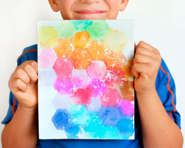 Kids-Craft-Tissue-Painted-Canvas