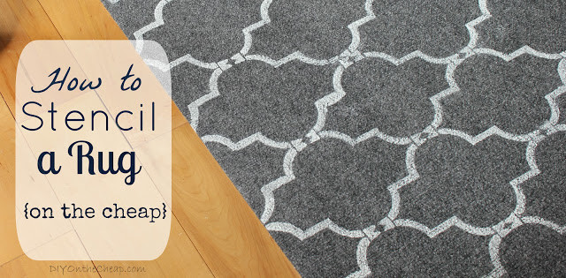 how to stencil a rug title