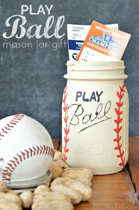 Play Ball Mason Jar Gift