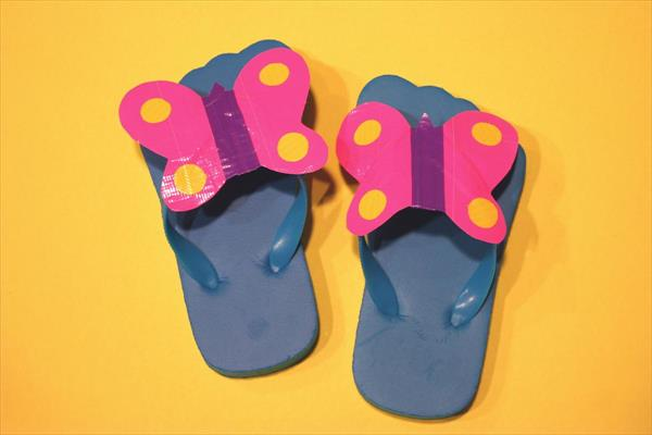 duct-tape-butterfly-slippers