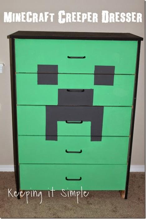 Minecraft Creeper Dresser with DecoArt Chalk Paint_thumb[3]