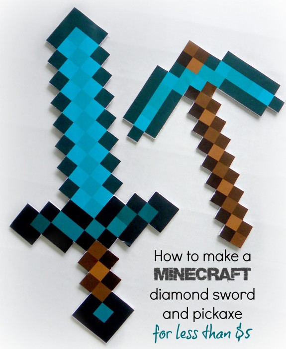 how-to-make-a-mincraft-diamond-sword-and-pickaxe-for-less-than-5