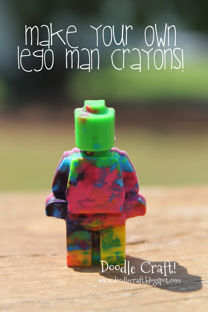 make your own lego man crayons title