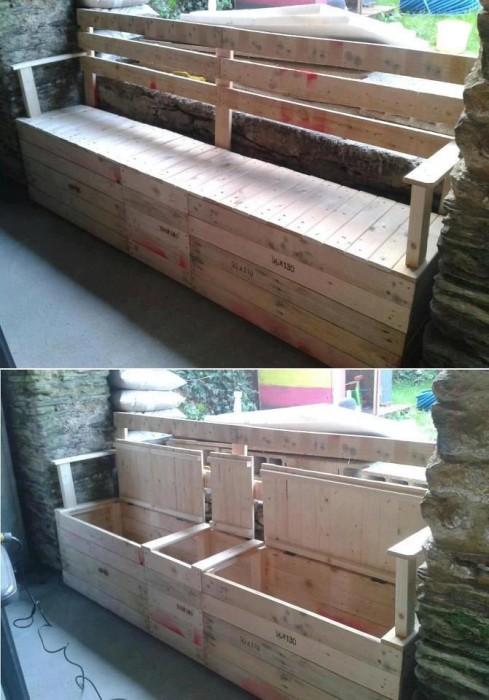 fabriquer-banc-jardin-avec-rangement