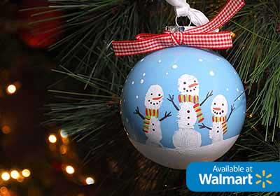 Easy Fingerprint Snowman Ornament