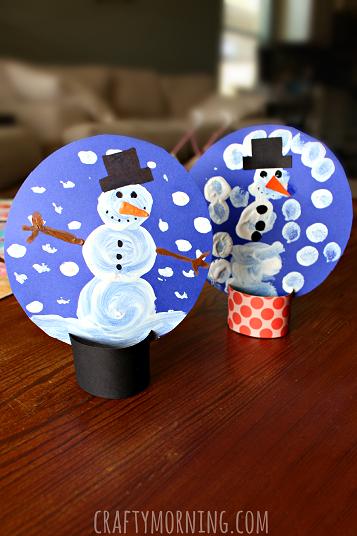 Pom Pom Painted Snow Globes