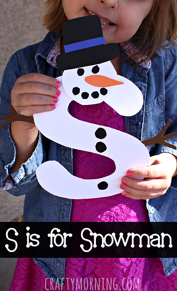 S for Snowman Craft