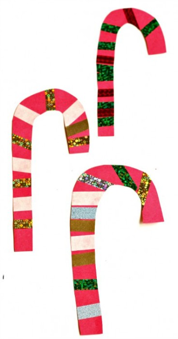 Simple Candy Cane Craft