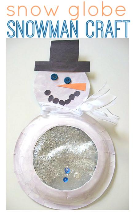 Snow Globe Snowman Craft