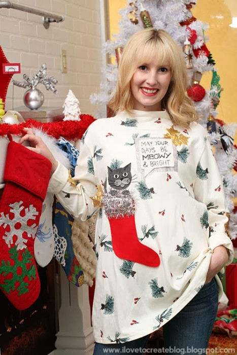 A Very Meowy Ugly Christmas Sweater