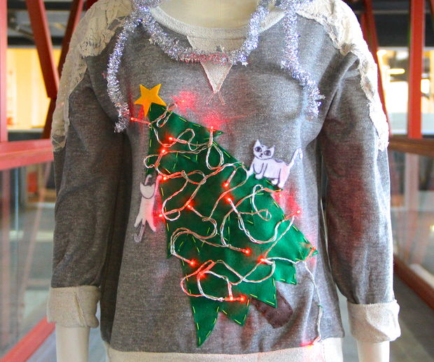 Cat Lady Ugly Christmas Sweater