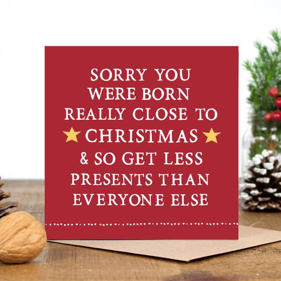 Christmas and Holiday Birthday Card