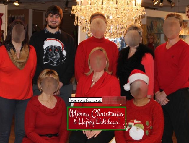 Company Christmas Card Photo