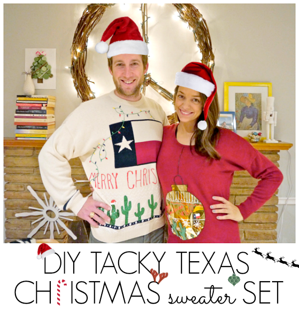 DIY Tacky Texas Christmas Sweater