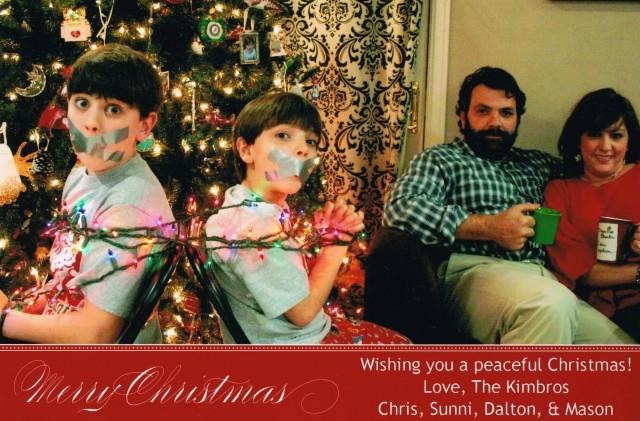 Funny Family Christmas Card