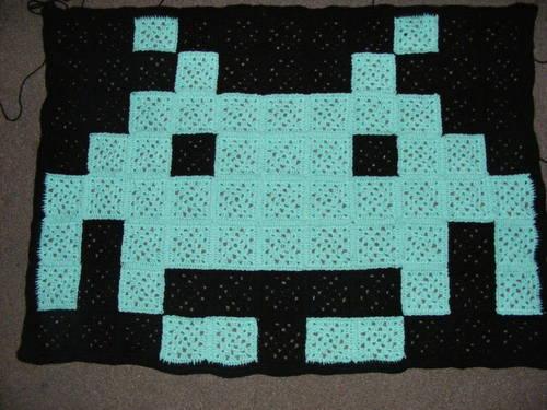 Space Invader Quilt