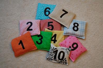 Number Bean Bags