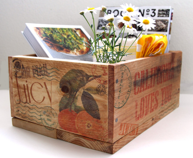 DIY Pallet Wood Crate and Easy Image Transfer