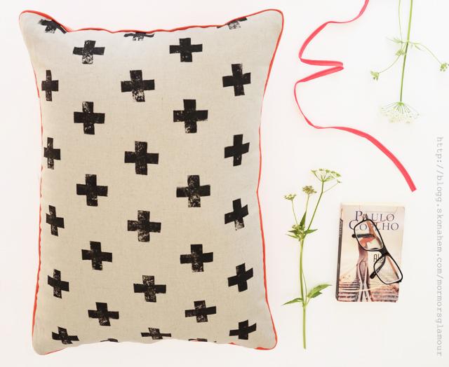 DIY Pillow with Potato Stamp
