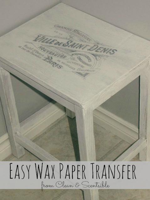 Easy Wax Paper Transfer