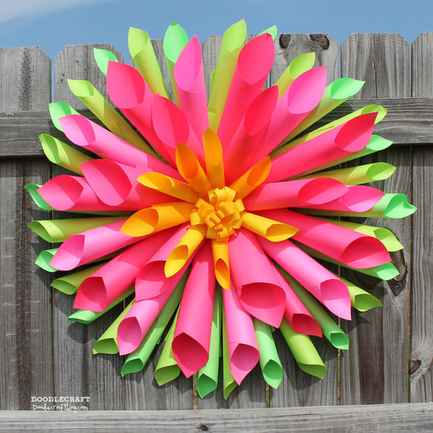 Dahlia Paper Flower Wreath by Instructables
