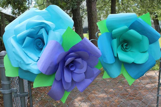 Giant DIY Paper Rose Flowers
