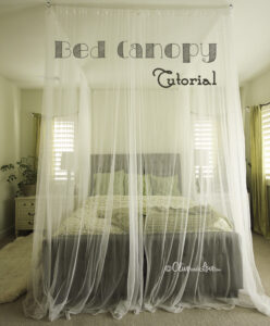bed canopy tutorial