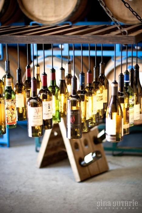 30 Wine Bottle Chandelier