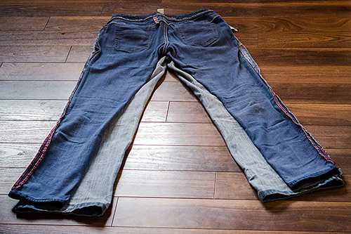 Baggy jeans to skinny jeans