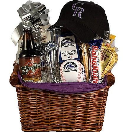 Baseball Lovers Gift Basket