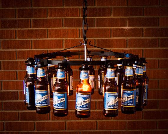 Beer Bottle Chandelier Chain Style