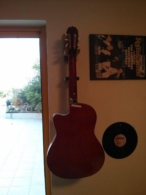 DIY Guitar Wall Hanger from Wood