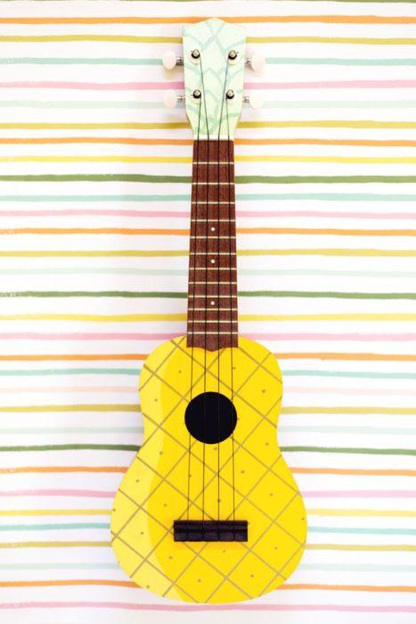 DIY Pinapple Painted Ukelele