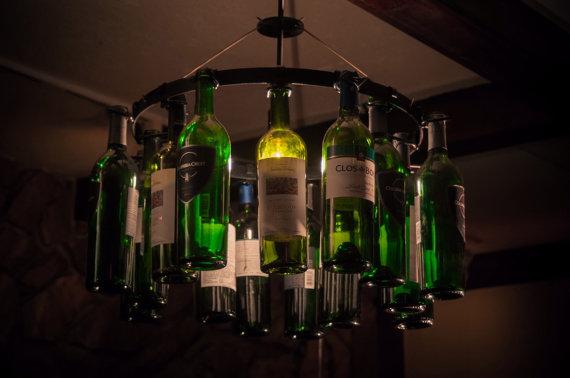 Wine Bottle Chandelier Wine Rack