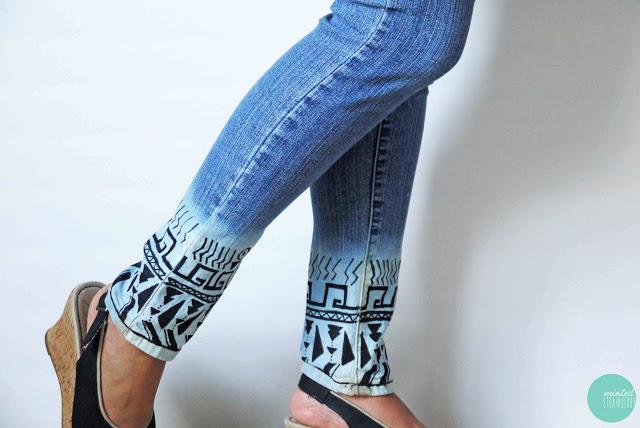 bleach dipped jeans