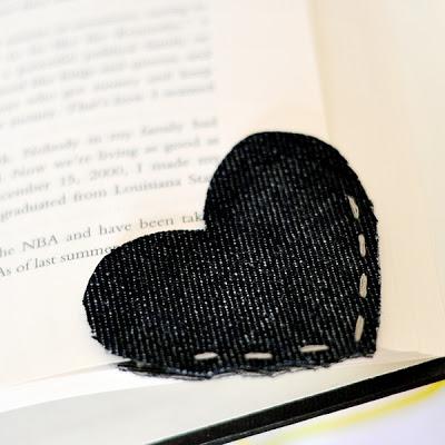 denim bookmark