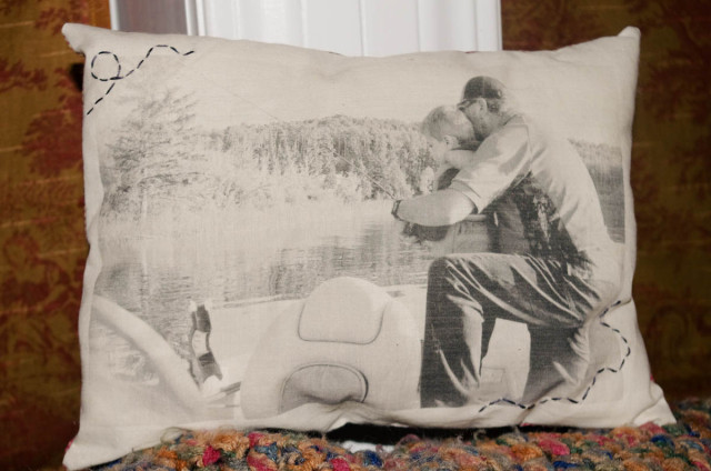 wax paper transfer to canvas pillow