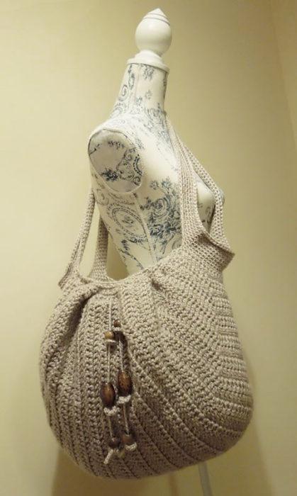 Awesome Crochet Market Boho Bag