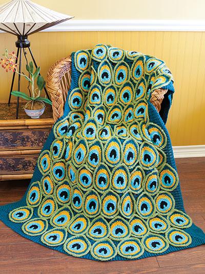 Crochet Peacock Blanket