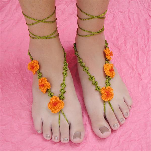 DIY Crochet Poppy Sandals